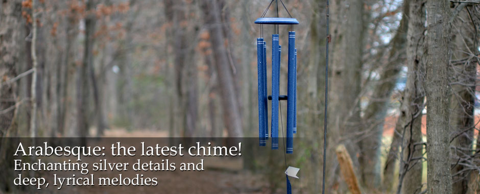Arabesque wind chimes. New at BuyChimes.