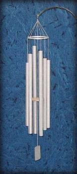 Grace Note Wind Chime Summer Daydream  Extra Large 62 inch Aluminum Silver 4-X